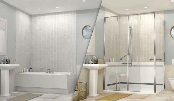 Remplacer la baignoire par une douche