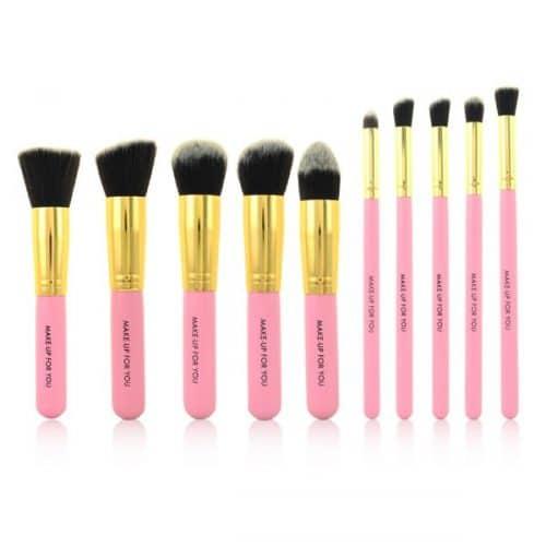 Set complet 10 pinceaux maquillage professionnels